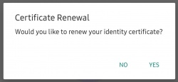 Renewal Pop Up Message