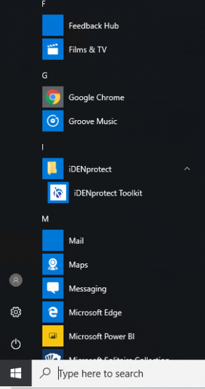 IDENprotect Windows in Start Menu after installation.png