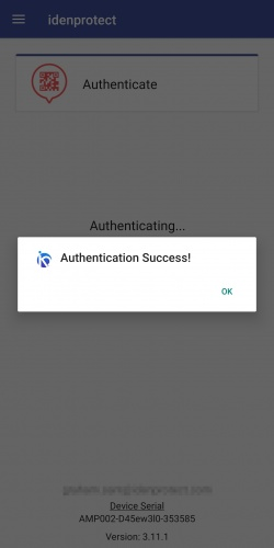 Authentication Success