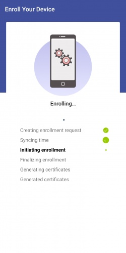 Enrollment Screen