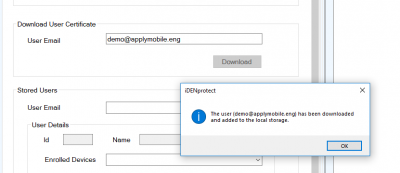 Upload a user certificate to the Windows Certificate Store